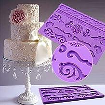 FVIEW DIY Lace Mat Dandelion Fondant Silicone Cake Mold Cake Decoration Tool