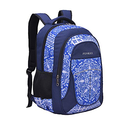 Backpack for Girls, Kids, Teens, Women by Fenrici, 18 inch Durable Book Bags for Elementary, Middle, High School, College Students, Supporting Kids with Rare Diseases (PERSISTENCE, M)