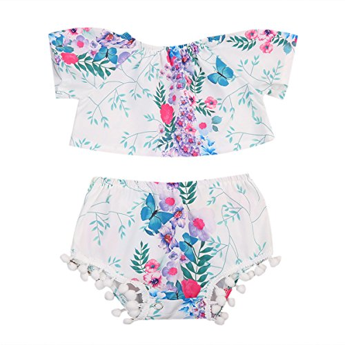 2-piece-infants-baby-girl-short-sleeve-floral-top-pom-shorts-outfit-set-18-24m-floral