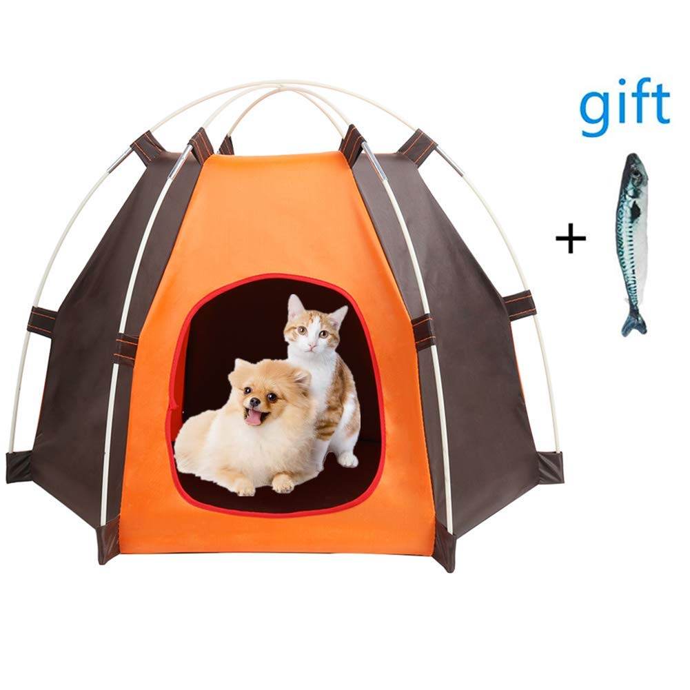 Portable Pet Tent Outdoor Travel Puppy Indoor Cat Dog Kennel Bed Washable House