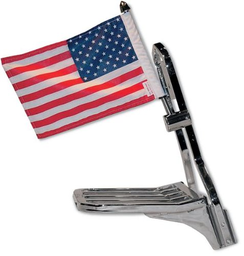 Pro Pad RFM-SQSB15 Sissy Bar Square Motorcycle Flag Mount Kit and 10