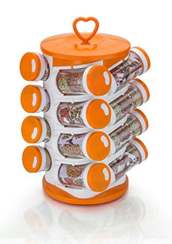 16 Jar Revolving Spice / Masala Rack / Masala Box / Spice Reck - spise16