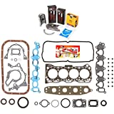 Domestic Gaskets Engine Rering Kit FSBRR8008 92-01 Suzuki GEO Chevrolet 1.6 G16KV Full Gasket Set, Standard Size Main Rod Bearings, Standard Size Piston Rings