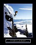 Challenge: Skier Art Print 22 x 28in