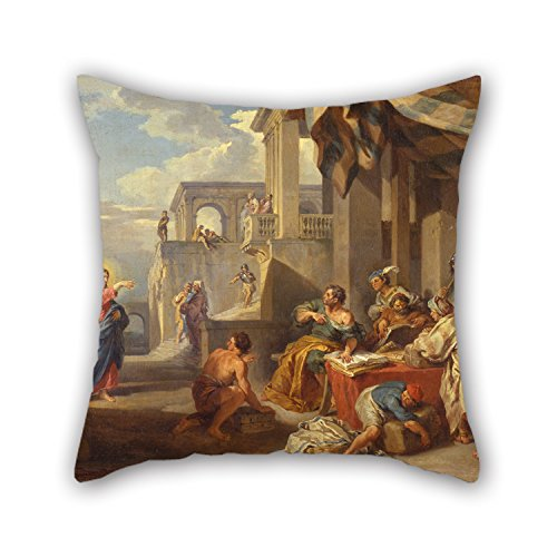 Oil Painting Giovanni Paolo Panini - The Calling Of Saint Matthew Pillow Shams 16 X 16 Inches / 40 By 40 Cm Best Choice For Dance Room,indoor,home Office,pub,bf,birthday With Double Sides