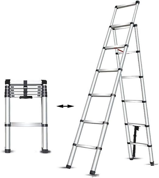 XSJZ Escalera Telescópica Plegable, Barra de Equilibrio Antirresbaladizo Doble con La Escalera Portátil de La Barandilla Conveniente para Las Escaleras de La Partición del Hogar Ingeniería Heavy Lift: Amazon.es: Hogar