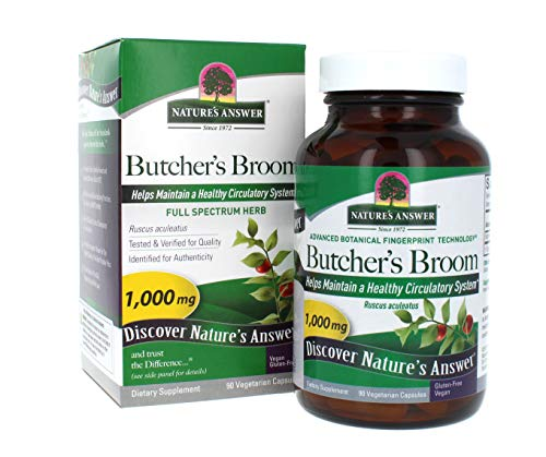 Nature's Answer Butcher's Broom Root Supplement Capsules 90 Count | Promotes Blood Circulation | Supports Inflammation…