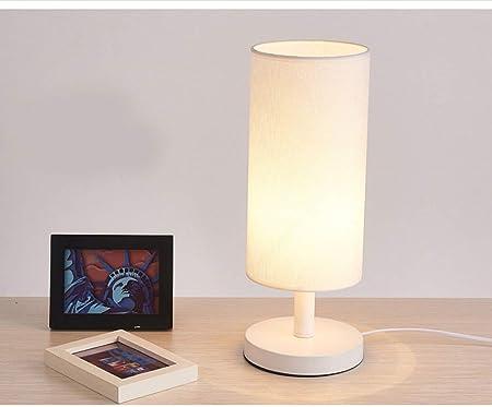 FHKL Lámpara De Mesa con Protección para Los Ojos LED Tela De ...