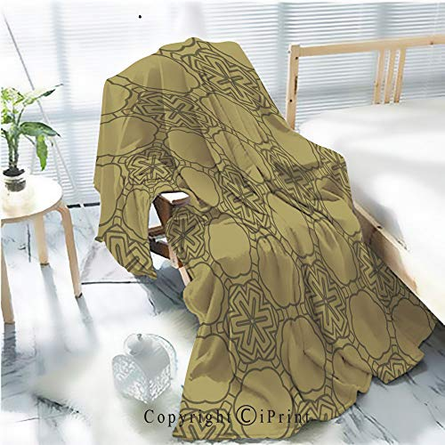 Printed Throw Blanket Smooth and Soft Blanket,Decorative geometric ornament seamless pattern vector illustration for design wallpaper invitation11 For Sofa Chair Bed Office Travelling Camping,Kid Ba