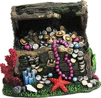 amazon com underwater treasure chest 6x5x5 pet supplies