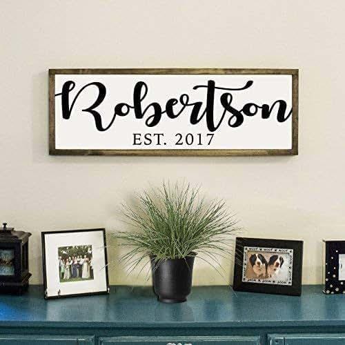 Amazon.com: Personalized Family Farmhouse Sign - Modern ...