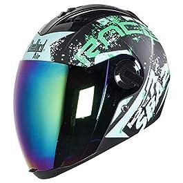Steelbird SBA-2 Race Full Face in Matt Finish Helmet Fitted with Clear Visor and Extra Chrome Visor (Large 600 MM, Matt…
