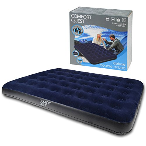 Double Airbed Inflatable Blow Up Camping Mattress Guest Air Bed Comfort Quest