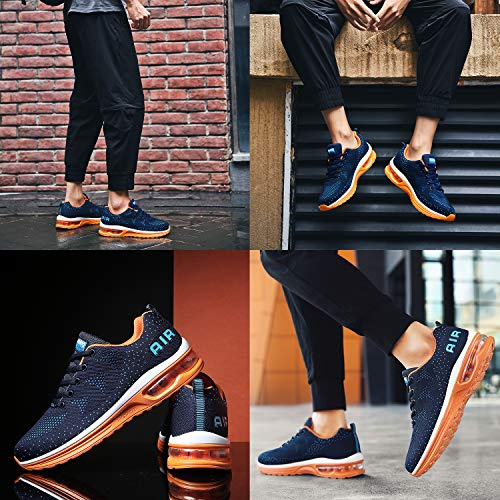 RomenSi Men's Air Cushion Sport Running Shoes Casual Athletic Tennis Sneakers US6.5-11.5