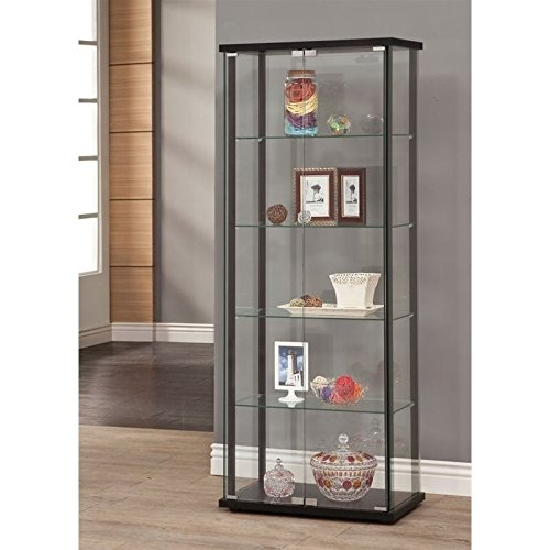 Contemporary Wood Display Cabinet - 1