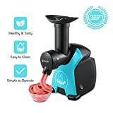 Frozen Fruit Dessert Maker, iSiLER Automatic Healthy Frozen Dessert Machine, Makes Sorbet, Soft-Serve Sherbet, Ice Cream, Frozen Yogurt For Kids, FDA Approved BPA Free Includes Recipe Review