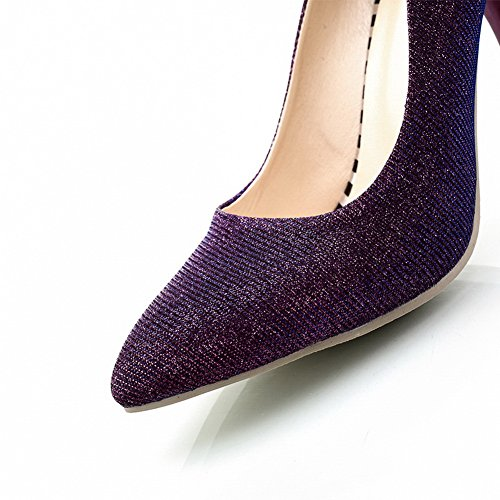Pumps Purple Heels Soft Material Pull Shoes Womens BalaMasa High On wnxq0FgZ7v