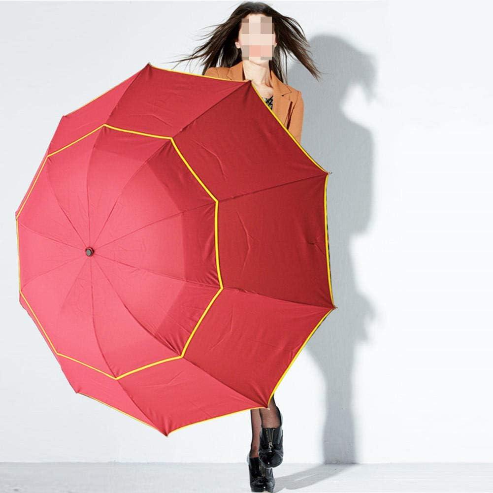 NFRADFM Paraguas,Paraguas grande a prueba de viento de 130 cm grande de doble capa,Paraguas portátil para hombres mujer,Hombres mujeres Sun 3 Floding Business Umbrellas