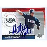 Matt Ginter autographed 2004 USA Baseball Upper Deck Baseball Card #68 - Autographed Baseball Cards