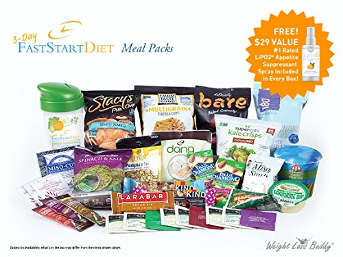 3-Day Fast Start Diet - Meal Packs, Intermittent Fasting Weight Loss Eating Plan - Pre Measured Pre Calculated Portions - Includes Appetite Suppressant Spray by Weight Loss Buddy
