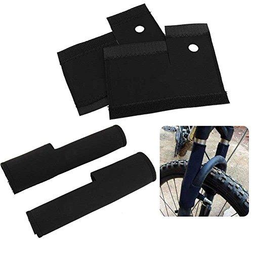 Gracefulvara 1 Pair/2 Pcs Bicycle Front Fork Protector Pad Wrap Cover Set