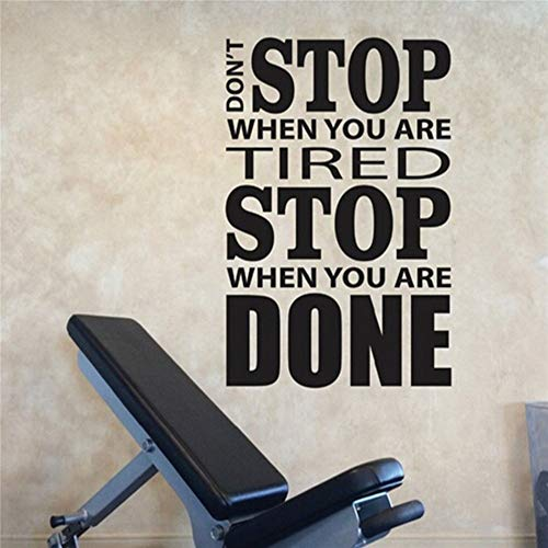 Wall Decal Sticker Art Mural Home Dcor Quote Don't Stop When You are Tired Stop When You are Done for Gym Office
