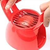 HLovebuy Finger Ring 11 Mozarella Multifunctional Tomatoes Slicer, Onion Cut Fruits Vegetables Cutter for Kitchen Tools(Red), Muffin Cups