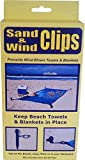 Sand and Wind Clips Beach Towel/Blanket Holder (4pc Set)