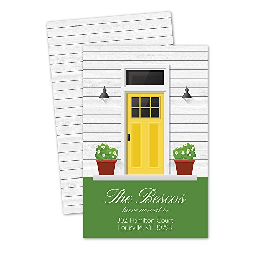 Personalized Moving Announcement - Front Door Personalized Moving Announcement - Yellow