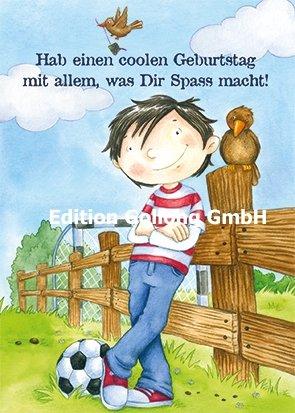Postkarte Alexa Riemann Junge Mit Fussball Geburtstag Amazon De