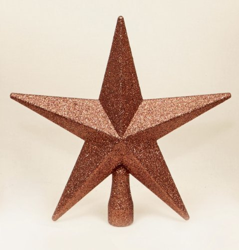 Brown Christmas Tree Top Star Topper Glitter finish 20cm premier 126324BRM