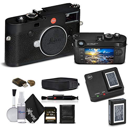 Leica M10 Digital Rangefinder Camera (Black) With Sony 64GB Memory Card Bundle