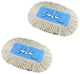 2 Home Pro Soft & Swivel Mop Refill 100% Cotton Head Fits Quickie Model #064