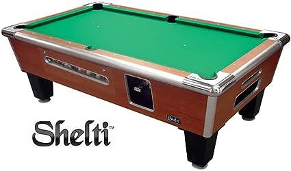 37a078bde2326 Amazon.com   Shelti Bayside Pool Table Sovereign Cherry - 93