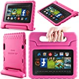 i-Blason ArmorBox Kido Series for All New Kindle Fire HD 7 Inch Tablet [2013 Release / Not Compatible with Kindle Fire HD 7 2012 Release] Light Weight Super Protection Convertiable Stand Cover Case Kids Friendly (Pink)