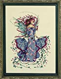 Mirabilia Designs October Opal Fairy LINEN Kit Beaded Counted Cross Stitch by Nora Corbett MD132 (Bundle: Chart, Fabric, Beads, Braid)
