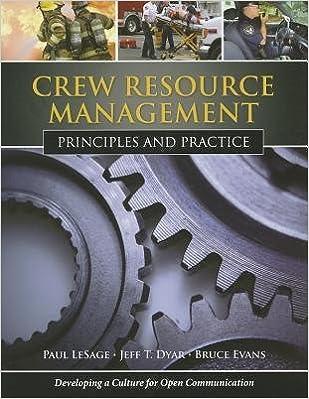 Book [(Crew Resource Management: Principles and Practice )] [Author: Paul LeSage] [Jan-2010]