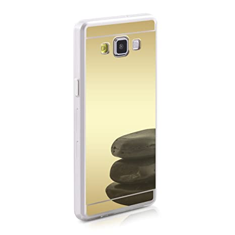 kwmobile Funda para Samsung Galaxy A5 (2015) - Carcasa Protectora [Trasera] de [TPU] para móvil en [Dorado con Efecto Espejo]