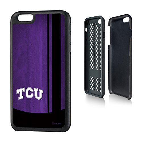 Texas Christian Horned Frogs iPhone 6 Plus & iPhone 6s Plus Rugged Case officially licensed by Texas Christian University for the Apple iPhone 6 Plus by keyscaper® Durable Two Layer Protection Shock Absorbing