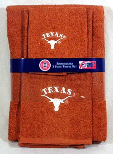 Texas Longhorn Embroidered 3 Piece Towel Set