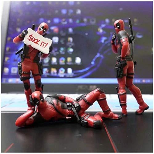 LQT Ltd 3 Desk Decoration Deadpools Car Home Office Marvel 8cm X-Man Funny Cute Figure Model Toys -
