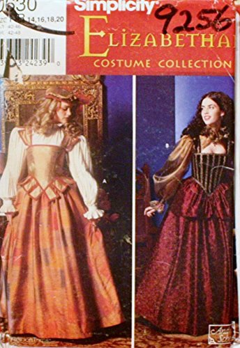 [OOP Simplicity Historical Costume Pattern 0630. Misses Szs 14,16,18,20 Elizabethan Costumes] (Elizabethan Costume Patterns)