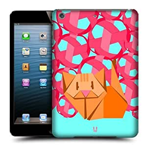 Head Case Designs Cat Origami Protective Snap-on Hard Back Case Cover for Apple iPad mini with Retina Display iPad mini 3