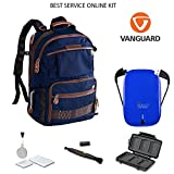 Vanguard Havana 48BL DSLR Camera Backpack + Halo 5500 Universal Charger + Lens Pen Cleaning Brush + Memory Card Wallet