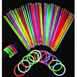 WAWO 100 8 Glow Stick Bracelets,mixed Colors (100PCS Glow Stick)