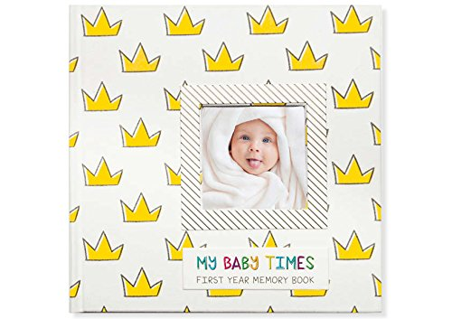 Baby Motek My Baby Times Fabric Bound First Year Memory Book