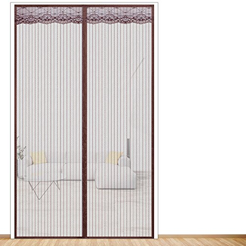 Magic sticker magnetic screen door mesh, Summer Home Encryption Adjustable Heavy duty Magnetic soft screen door Sand window-A 70x200cm(28x79inch)