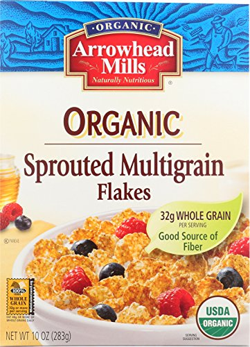 Arrowhead Mills Organic Cereal, Sprouted Multigrain Flakes, 10 oz. (Pack of 12) Arrowhead Mills Hot Cereal