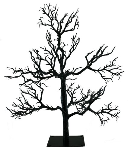 amazoncom kurt adler black spooky halloween tree oe21 hw0522 home kitchen - Black Halloween Tree