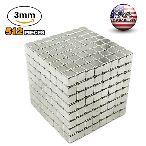 512 Square - radarfn Magnetic Cube 512 PCS Magnet Sculpture Stress Relief Toy DIY Educational Toys Kids Adults (3MM)